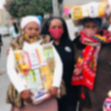 Takiyah with food parcel recipients