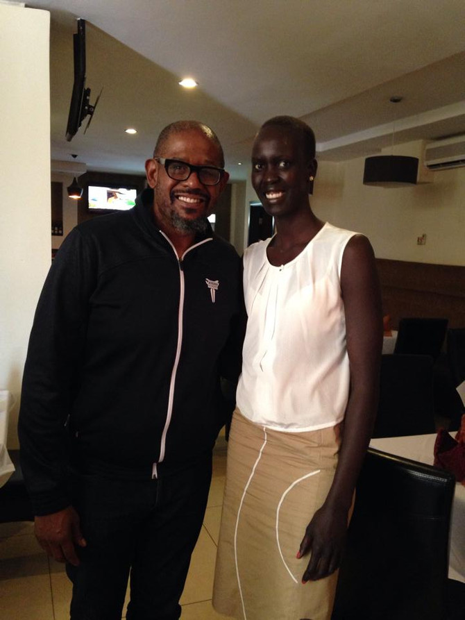 Lunch with Forest Whitaker in Juba!
