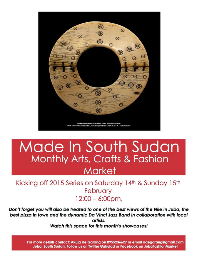 House of Bany is taking part in the Made in South Sudan market @ Davinci in Juba