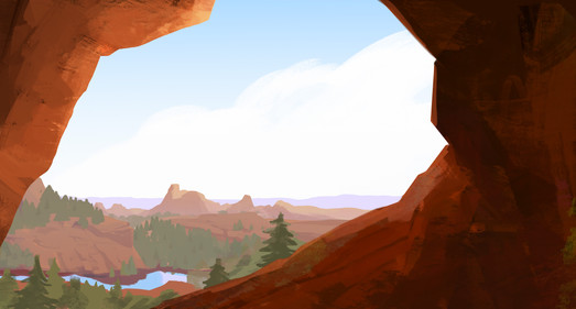 Canyon Environment Mid Journey