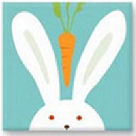 Easy Cross Stitch Kit for Kids - Cartoon Animal Easter Bunny