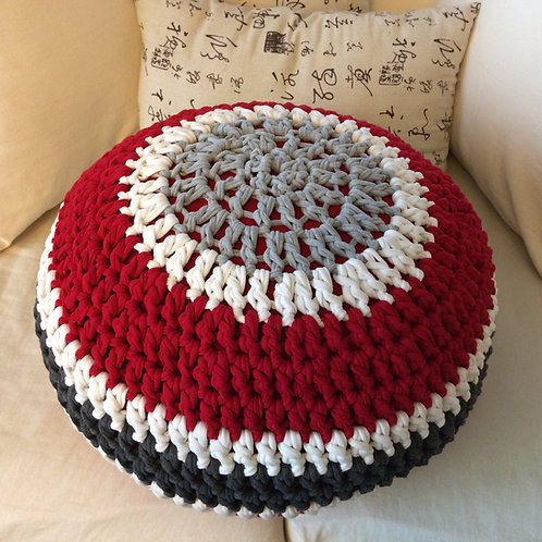 Ohio Buckeye Crochet T Shirt Pouf