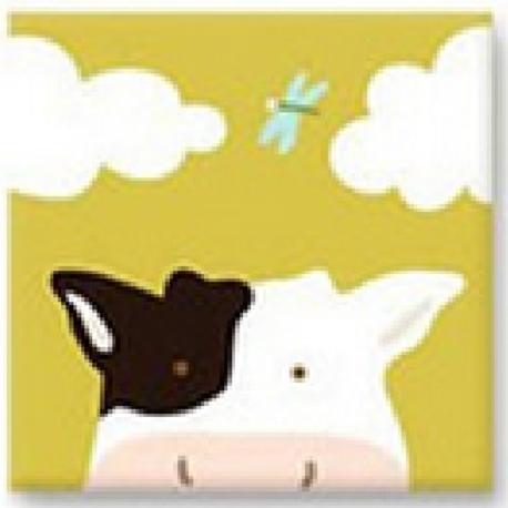 Easy Cross Stitch Kit for Kids - Cartoon Animal Moo Moo Cow