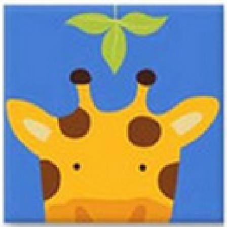 Easy Cross Stitch Kit for Kids - Cartoon Animal Giraffe
