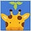 Thumbnail: Easy Cross Stitch Kit for Kids - Cartoon Animal Giraffe