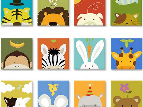Easy Cross Stitch Kit for Kids - Cartoon Animal
