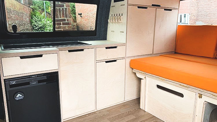 Full Length Campervan Kitchen Units