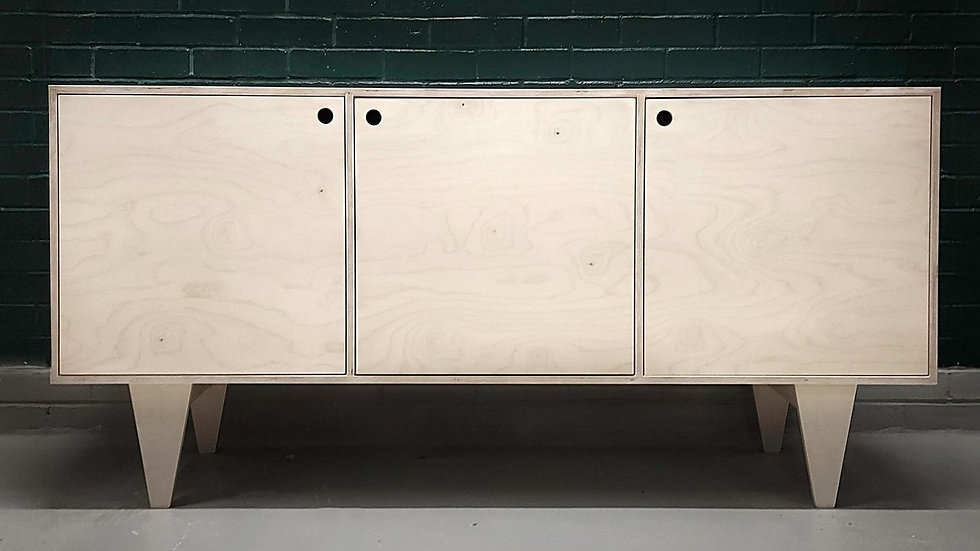 Strìochan Birch Plywood Sideboard Mid Century Design Cabinet Minimal Scandinavia