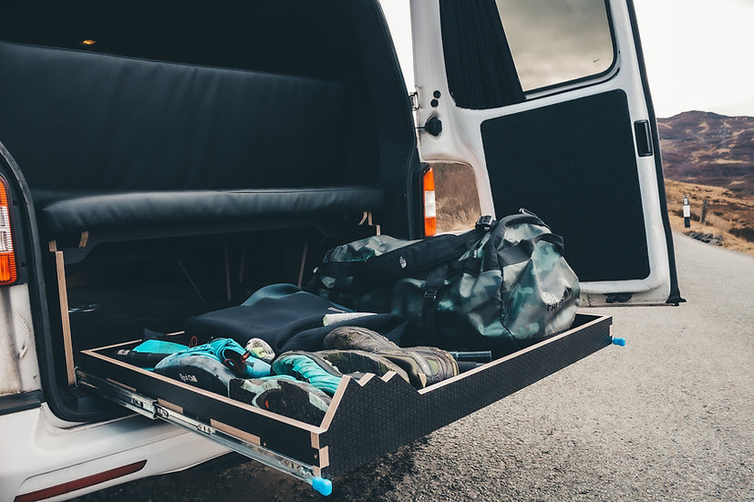Cuillin: Full Width & 3/4 bed option for Small/Medium Vans with storage options