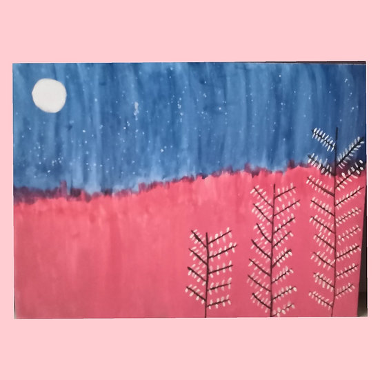Scenery canvas painting