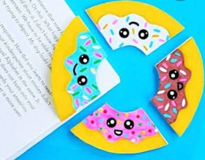 Doughnut bookmarks (set of 4)