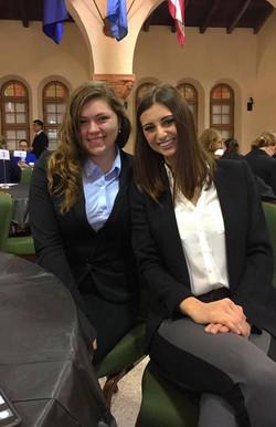 Reagan Williams from ASU and Kristen DeWilde from UNT