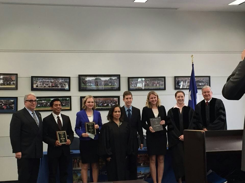 Finalists Pic With Judges-2016 St. Mary's Law Invitational