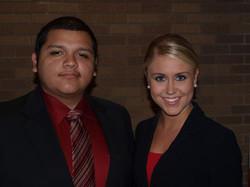 TCU Juan Martinez and Lauren Welch at Tech