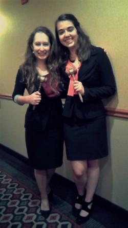 Hannah Vecseri (left) and Emily Volk (right)-St. Mary's Law Invitational