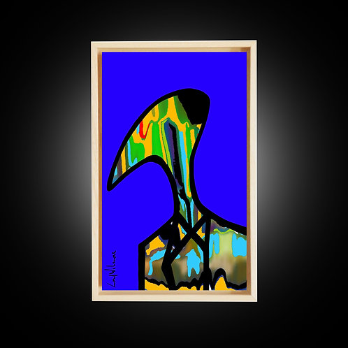 RABBHI IN KLEIN BLUE (24 CM X 40 CM)