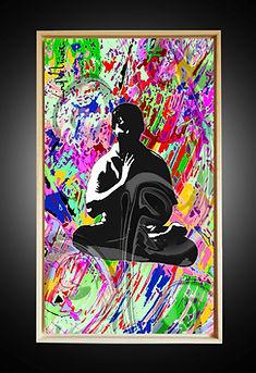 Peinture numérique imprimée sur Chromaluxe - No People Monk - Lord Wilmore