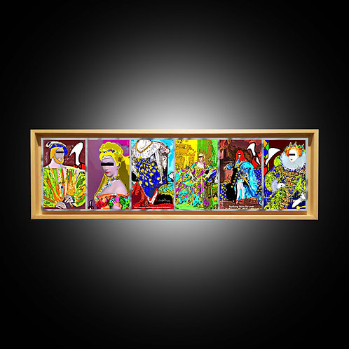 """SERIE COMPLETE """"KINGS, QUEEN, PRINCESS AND COURTISANE"""" (16 CM X 60 CM)"""