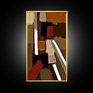 Peinture numérique imprimée sur Chromaluxe - De Staëlization Dancing Queen -g Lord Wilmore