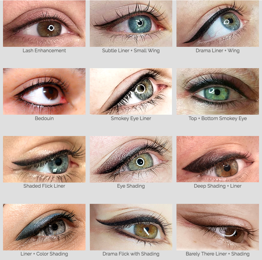 DERMAgraphics eyeliner design options
