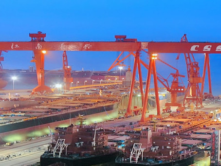 Chinese Shipyard Newbuilding Orders Up 227% for Jan - Aug