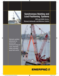 Synchronous Hoisting & Load Positioning Systems
