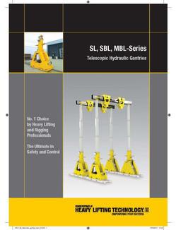 SL, SBL, MBL-Series