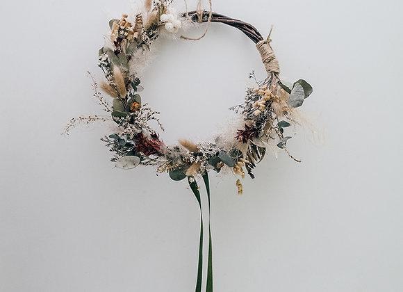 Bespoke Autumnal dried flower wreath