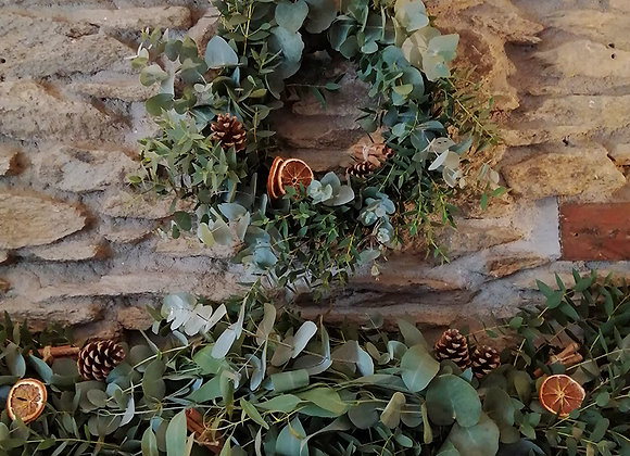PRE-ORDER- local delivery only- festive wreath & garland bundle