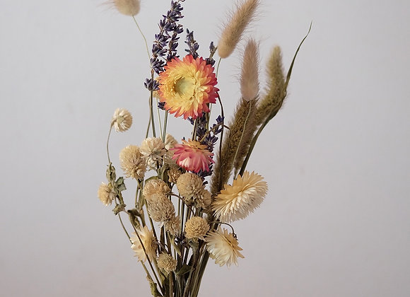 Take care dried flower poesie