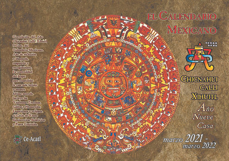 Calendario Mexicano 9-Casa (Chicnahui Calli Xihuitl) 2021-2022