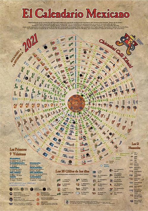 Calendario Mexicano Chicnahui Calli 2021-22 Poster