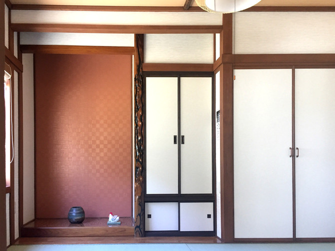 和室の改修工事。少しの工事で、印象が変わります!