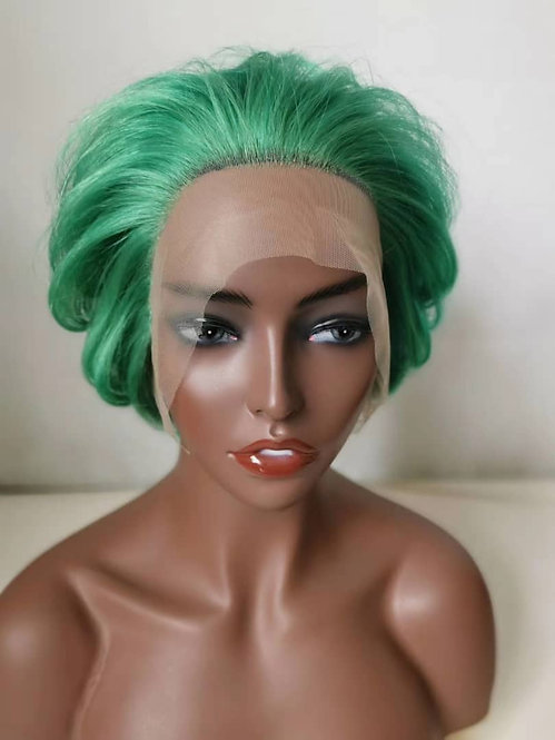 Green frontal lace wig