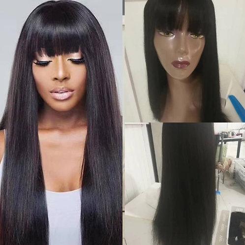 """Natural straight long bang wig 16"""""""