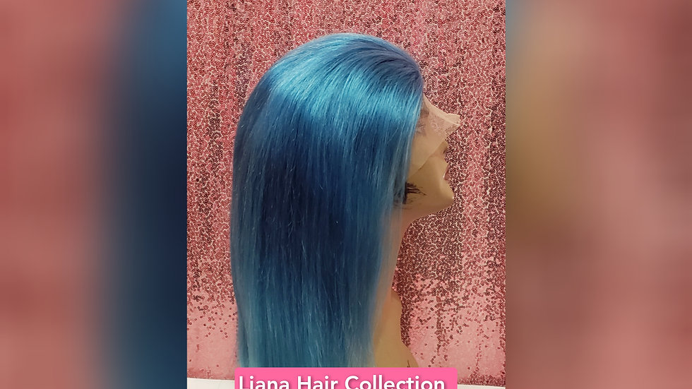 """Baby blue Lace Frontal Wig 16"""""""