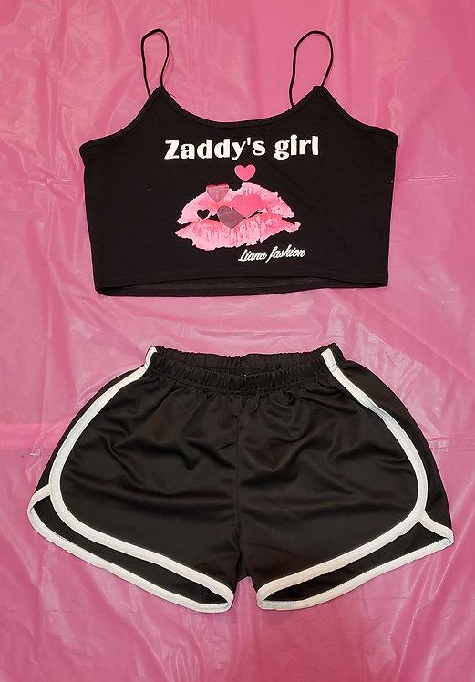 Short set Zaddy's Girl/Black