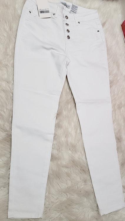 High waist white jeans