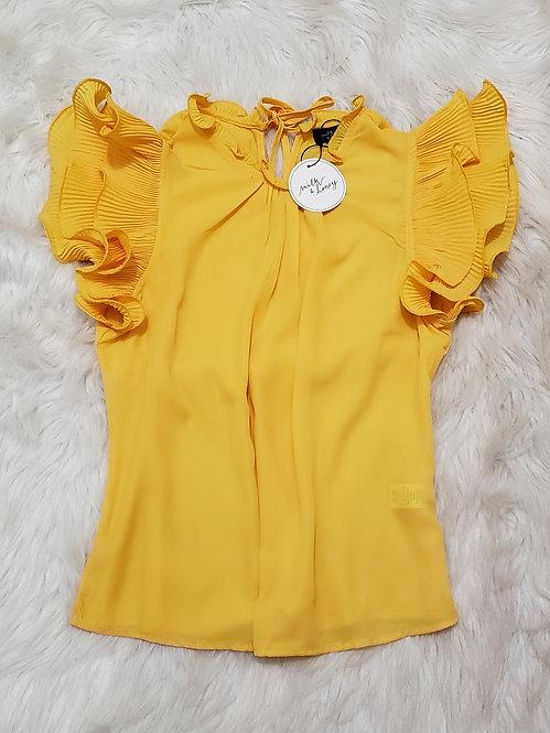 Yellow Fashion blouse