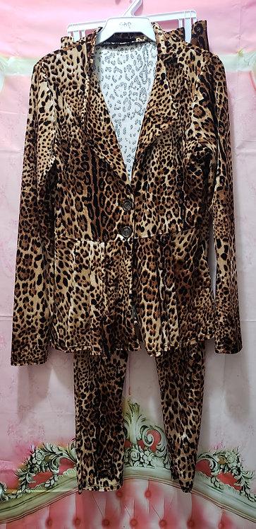Two piece pants set/Leopard