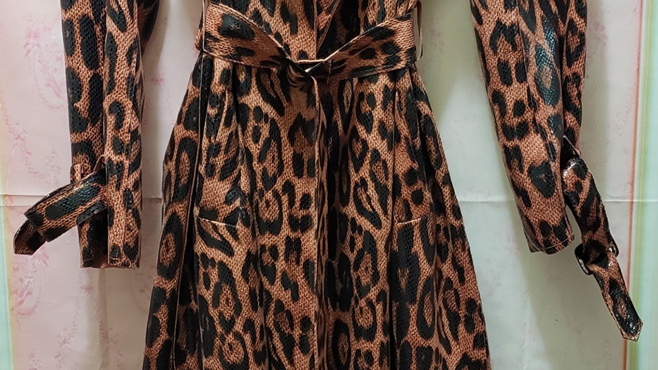 Fashion leather Jacket/Leopard