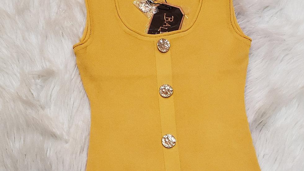 Fashion top/Mustard