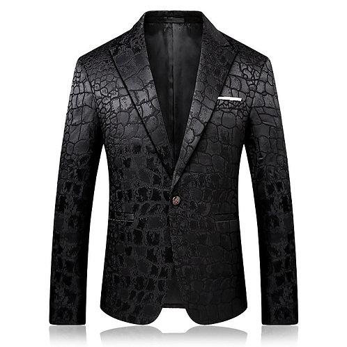 Quality Fashion Casual Jacquard Blazers Blazer Men Veste Costume Homme