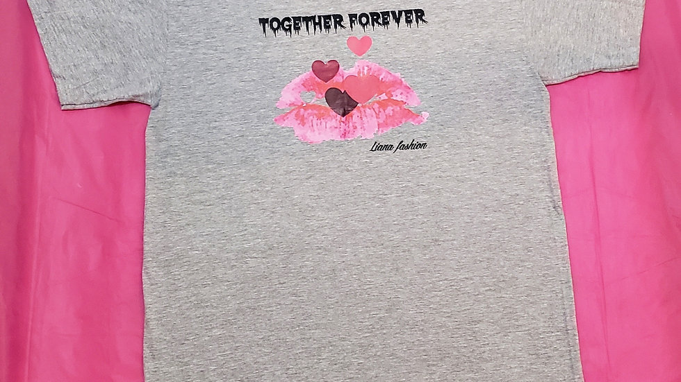 Liana Fashion.Graphic Tee/Together forever