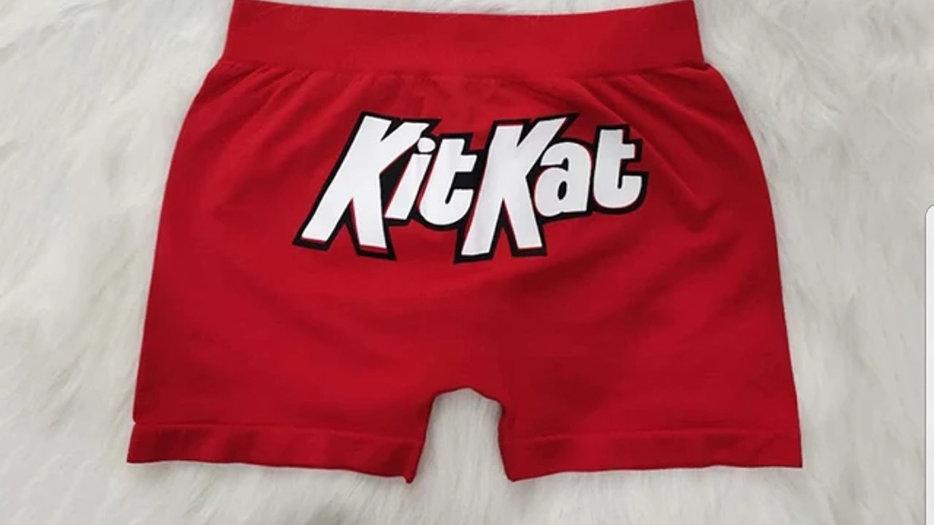 Booty short /kitkat red