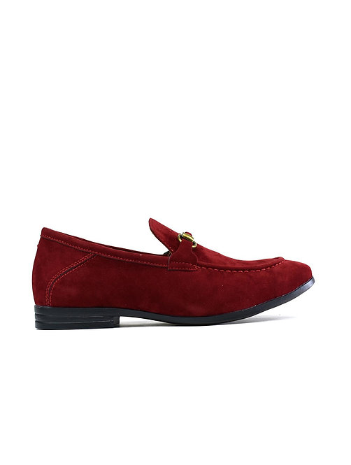 Men's Brass Snaffle Formal Shoes Red