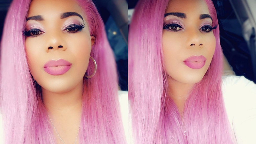 Customized wig/Lilac Lace Frontal wig 18""