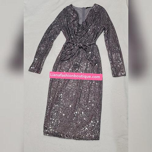 Glitter Classic Silver Dress