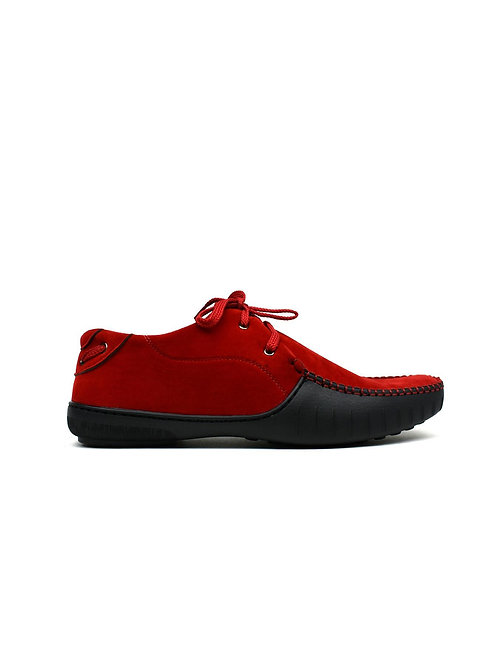 Block Red Lace Loafers