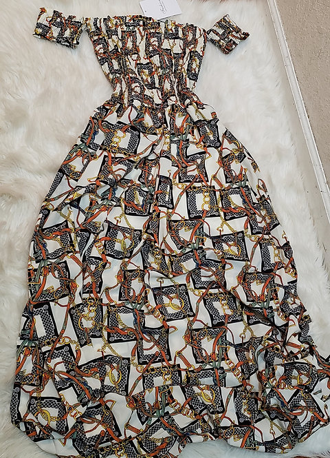 Inspired Versace long dress